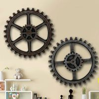 Wooden Gear Wall Art Industrial Antique Vintage Chic
