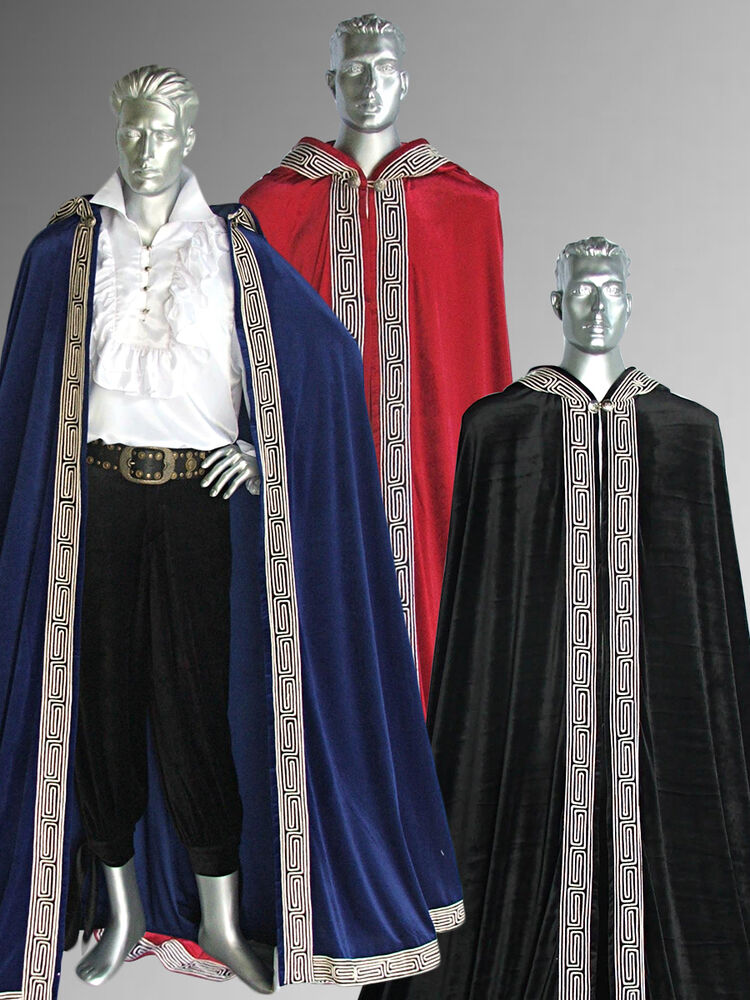 Medieval Renaissance Royal Style Cape Cloak For King Or
