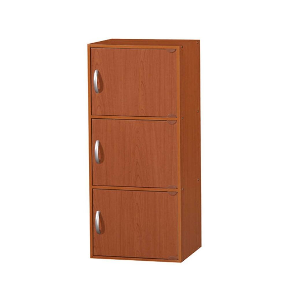 Kitchen Pantry Storage Cabinet Wood 3 Doors Wooden