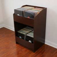 LPBIN LP Storage Cabinet in Java Cherry / Bin Style Record ...