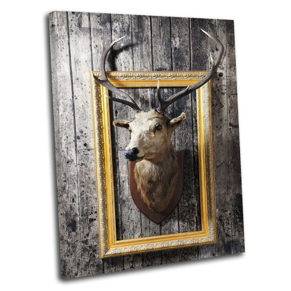 Deer Head Wall Art Canvas