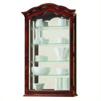 Howard Miller Vancouver Wall Display Curio Cabinet | eBay