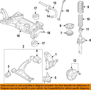 VW VOLKSWAGEN OEM Jetta Front SuspensionSteering Knuckle