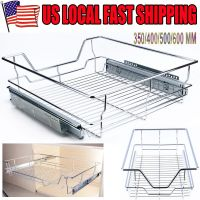 Single Tier Pull-Out Wire Basket Kitchen Cabinet Pull Out ...