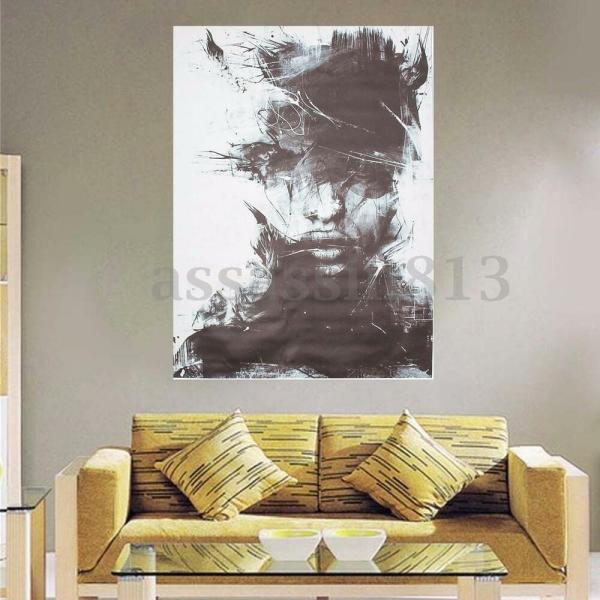 Modern Abstract Vogue Black Art Oil Painting Canvas