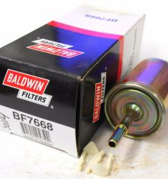 details about baldwin in line fuel filter bf7668 2 3 8 clips wix 33595 [ 1000 x 901 Pixel ]