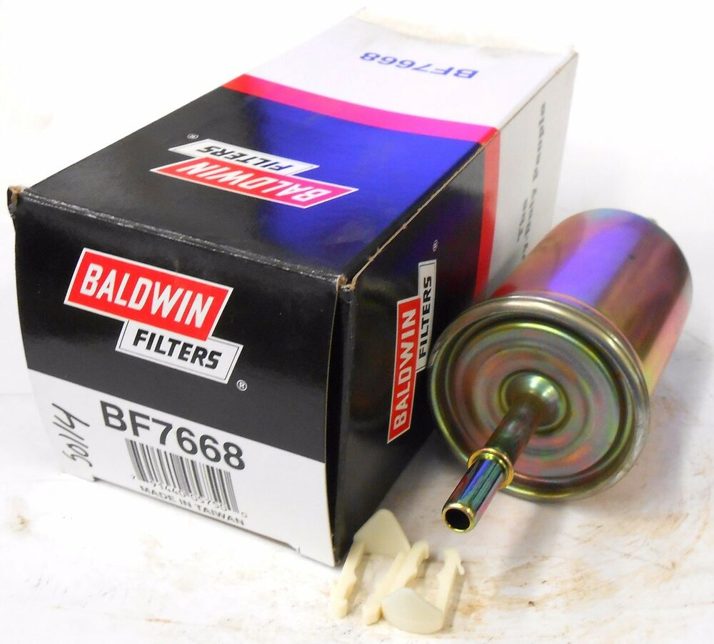 hight resolution of details about baldwin in line fuel filter bf7668 2 3 8 clips wix 33595