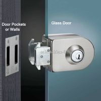 Glass door lock single door double unlock stainless steel ...