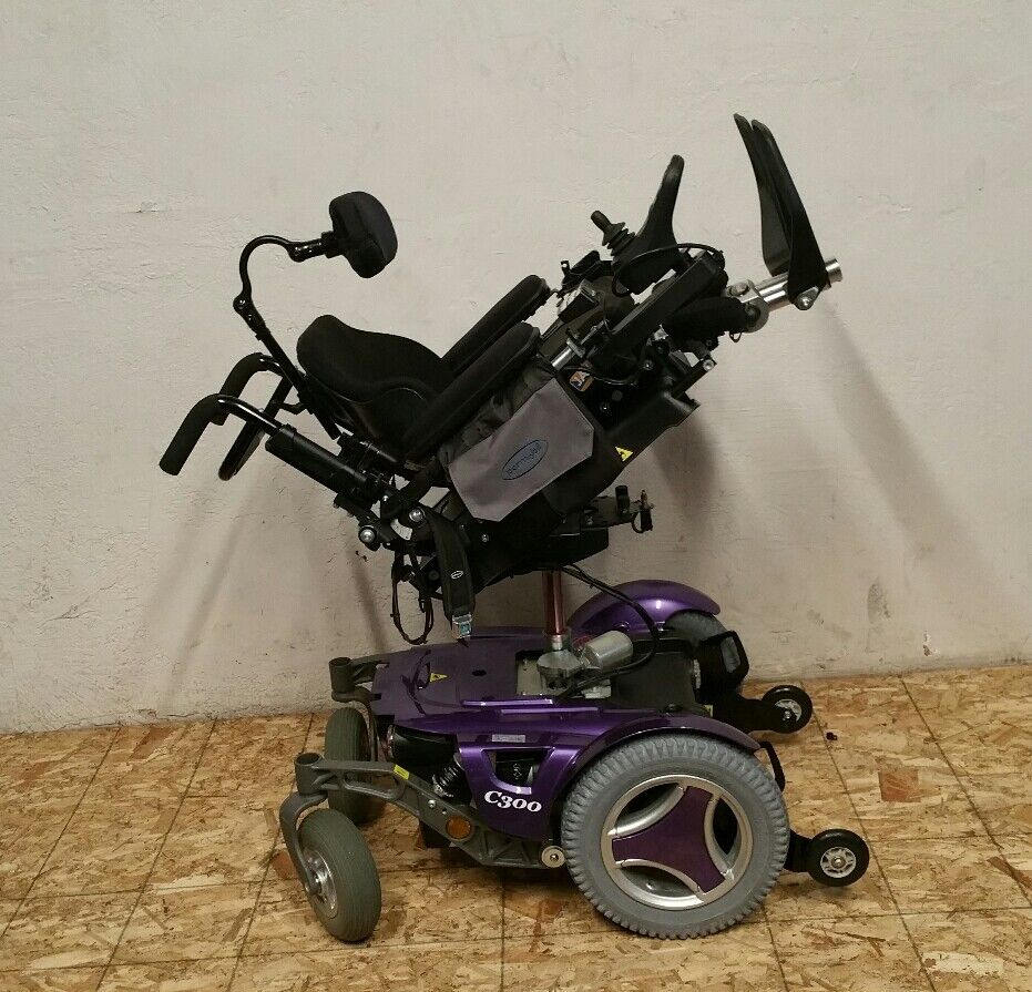 PURPLE PERMOBIL C300 PSJR PEDIATRIC WHEELCHAIR WITH POWER