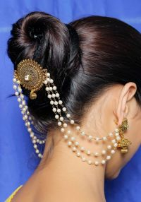 HP-12 Indian Ethnic Pearl Made Hair & Head jewelry Bridal ...