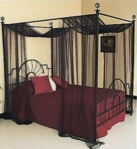 Four Poster Beds Canopy Curtain For King Queen Bed Sheer