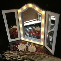 Large Triple fold 3way sections led mirror LED dressing ...