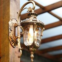 Outdoor Wall Lights Bar Glass Wall Sconce Garden Wall Lamp ...