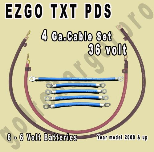 small resolution of ezgo txt pds golf cart 36 volt 4 gauge heavy duty battery cable wiring set ebay