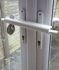 SECONDS White Patio Door Security French Door Security
