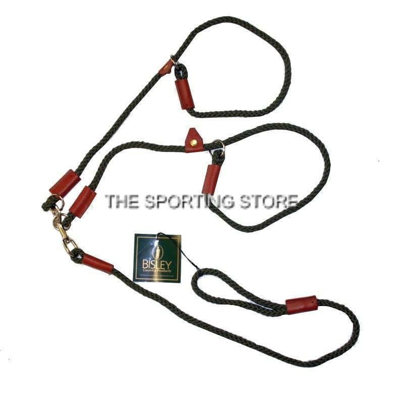 Bisley Double Rope Slip Lead in Olive Green for Dogs