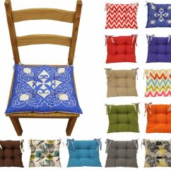 Chair Cushions Tie On Bedroom Chairs Nz Colourful Seat Pad Dining Room Garden Kitchen Details About Many Colours