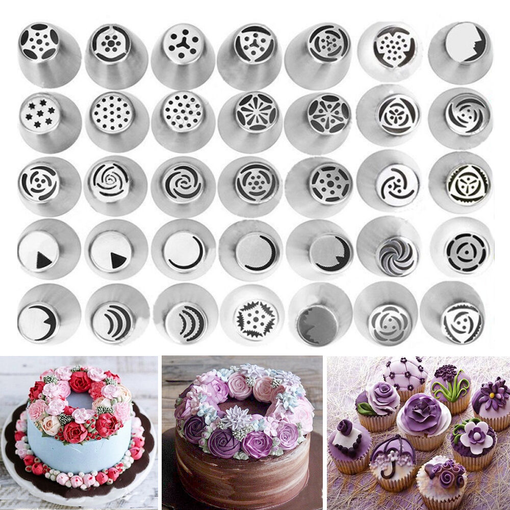 New Russian Tulip Flower Cake Icing Piping Nozzles