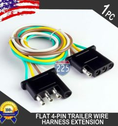 details about 1ft trailer light wiring harness extension 4 pin plug 18 awg flat wire connector [ 1000 x 1000 Pixel ]