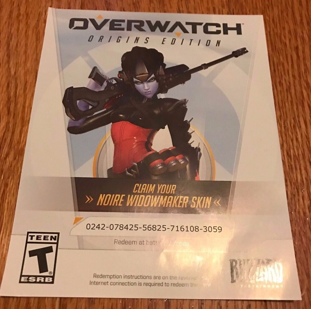 Overwatch Widowmaker Noire Skin PC Dlc All Regions Legendary Skin EBay