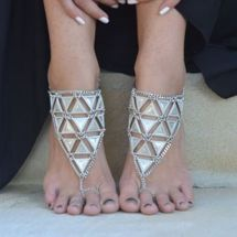 Toe Ring Anklet Chain Jewelry