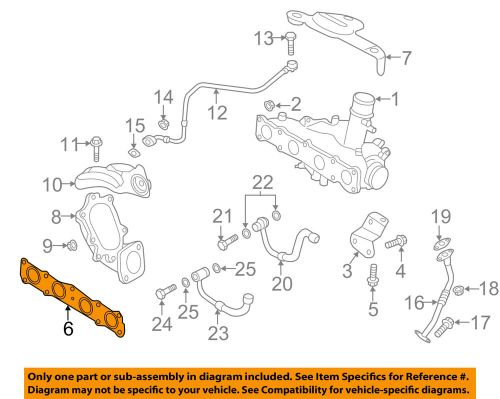small resolution of details about hyundai oem 11 14 sonata exhaust manifold gasket 285212g401