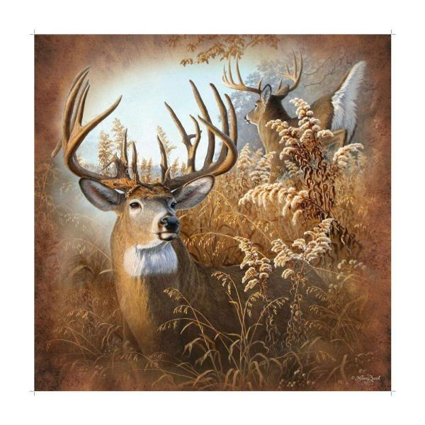 Deer Shower Curtain Rustic Buck Hunter Lodge Cabin Bathroom Decor Wildlife 674956620164