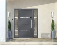 Front doors Schuco Opened with a fingerprint reader - door ...