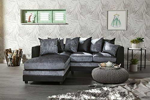 corner sofa and swivel chair leather tufted grey brand new starlet suite cuddle arm ...