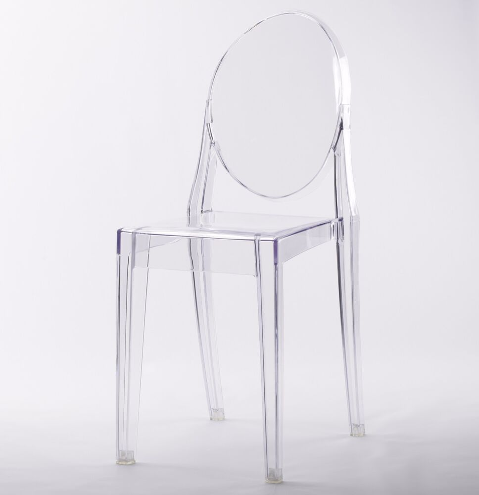 Plastic Clear Chair Clear Ghost Transparent Modern Plastic Dining Chair Vanity Dressing Chair 7434914041003 Ebay