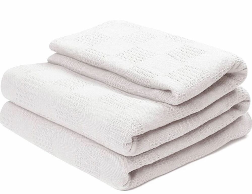 White Thermal Home/Hospital/Couch Blanket Full/Queen Size ...