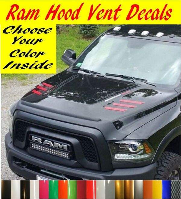 2010-2018 Dodge Ram 2500 & 3500 Hd Hood Vent Decals
