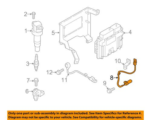 small resolution of details about hyundai oem veloster engine crankshaft crank position sensor cps 391802b030