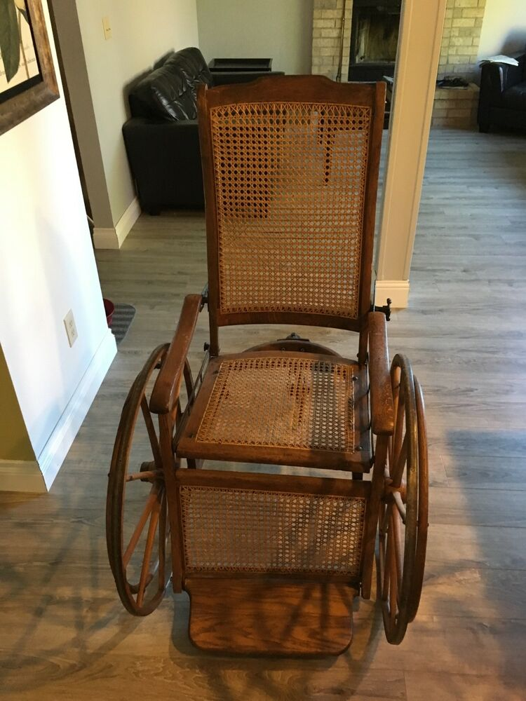 Antique Wheelchair 1840 S Vintage Pre Civil War Super