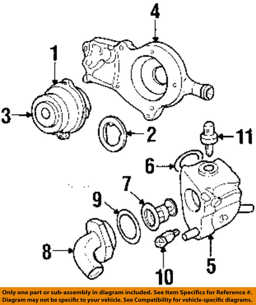 medium resolution of details about ford oem 2003 escort 2 0l l4 engine coolant thermostat housing xs7z8592ad