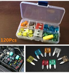 details about 120pcs 7 sizes assorted car truck standard small size low profile blade fuse box [ 1000 x 1000 Pixel ]