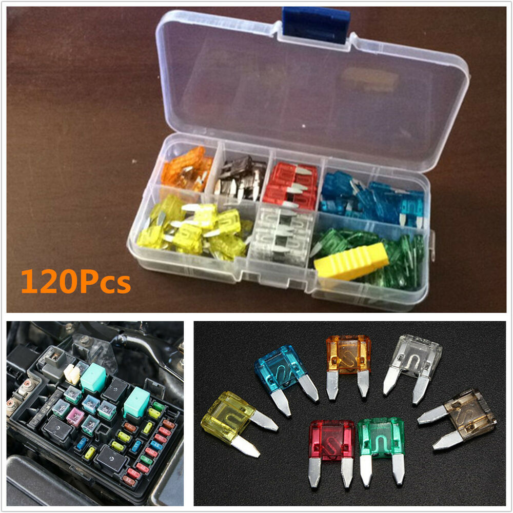 hight resolution of details about 120pcs 7 sizes assorted car truck standard small size low profile blade fuse box