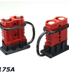 details about 2x battery connector 2awg winch cable quick connect booster plug 175a 12 36 volt [ 1000 x 1000 Pixel ]