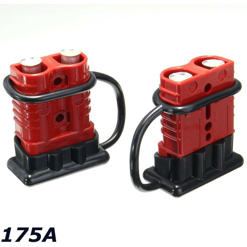 medium resolution of details about 2x battery connector 2awg winch cable quick connect booster plug 175a 12 36 volt