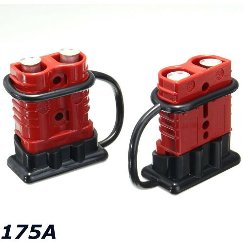 small resolution of details about 2x battery connector 2awg winch cable quick connect booster plug 175a 12 36 volt
