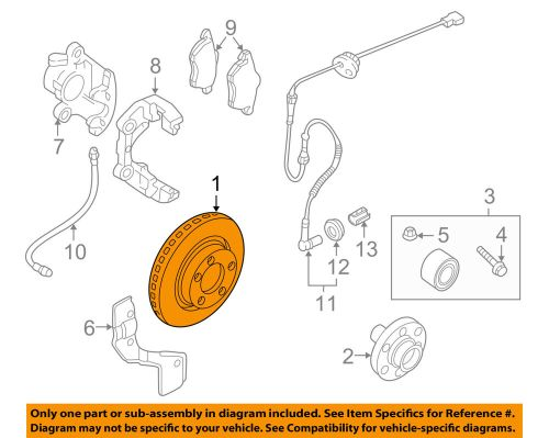 small resolution of details about vw volkswagen oem 04 05 passat front brake disc rotor 4b0615301b