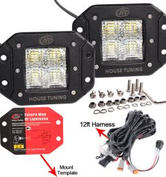 details about house tuning led fog light wiring harness kit 20w dc 12v flood beam for off road [ 1000 x 1000 Pixel ]
