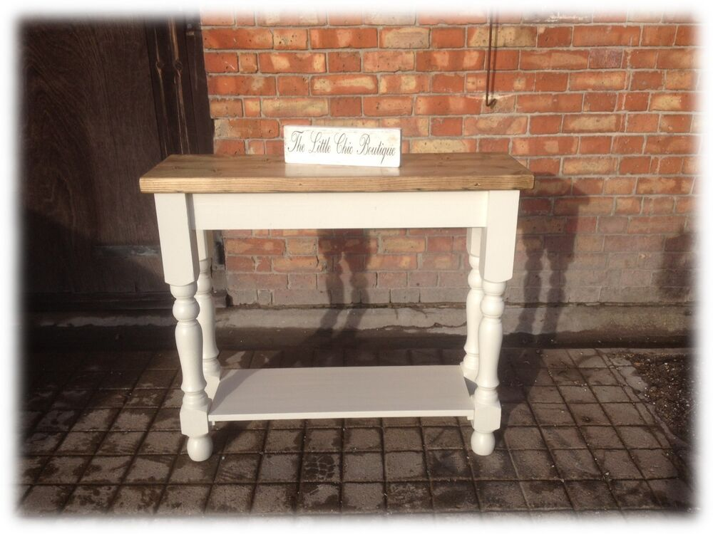 kitchen console table mirrored backsplash shabby chic sideboard hall stand island details about 90cm x 30cm