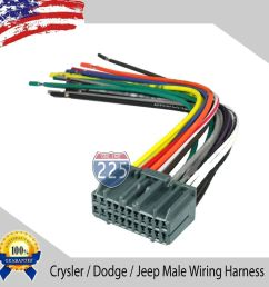 details about car stereo wiring harness factory radio male plug chrysler dodge jeep 2002 up [ 1000 x 1000 Pixel ]
