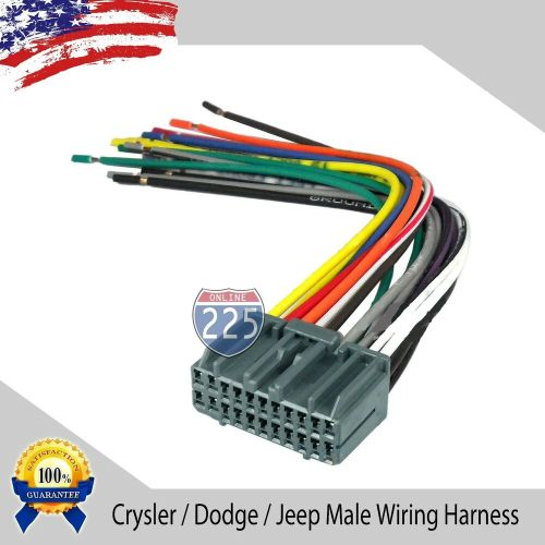 small resolution of details about car stereo wiring harness factory radio male plug chrysler dodge jeep 2002 up