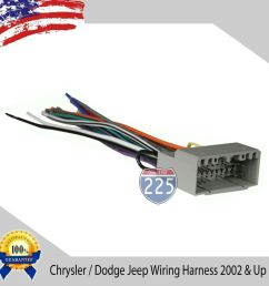 details about car stereo wiring harness for aftermarket radio chrysler dodge jeep 2002 up [ 1000 x 1000 Pixel ]
