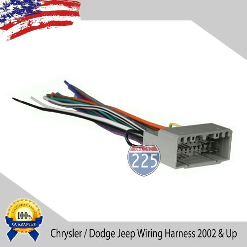 small resolution of details about car stereo wiring harness for aftermarket radio chrysler dodge jeep 2002 up