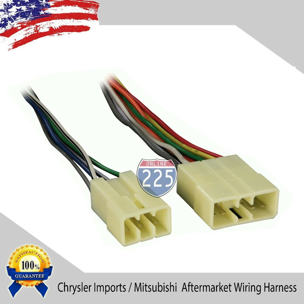 medium resolution of details about car stereo cd player wiring harness chrysler dodge eagle mitsubishi 1987 1996