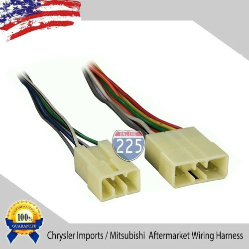 small resolution of details about car stereo cd player wiring harness chrysler dodge eagle mitsubishi 1987 1996
