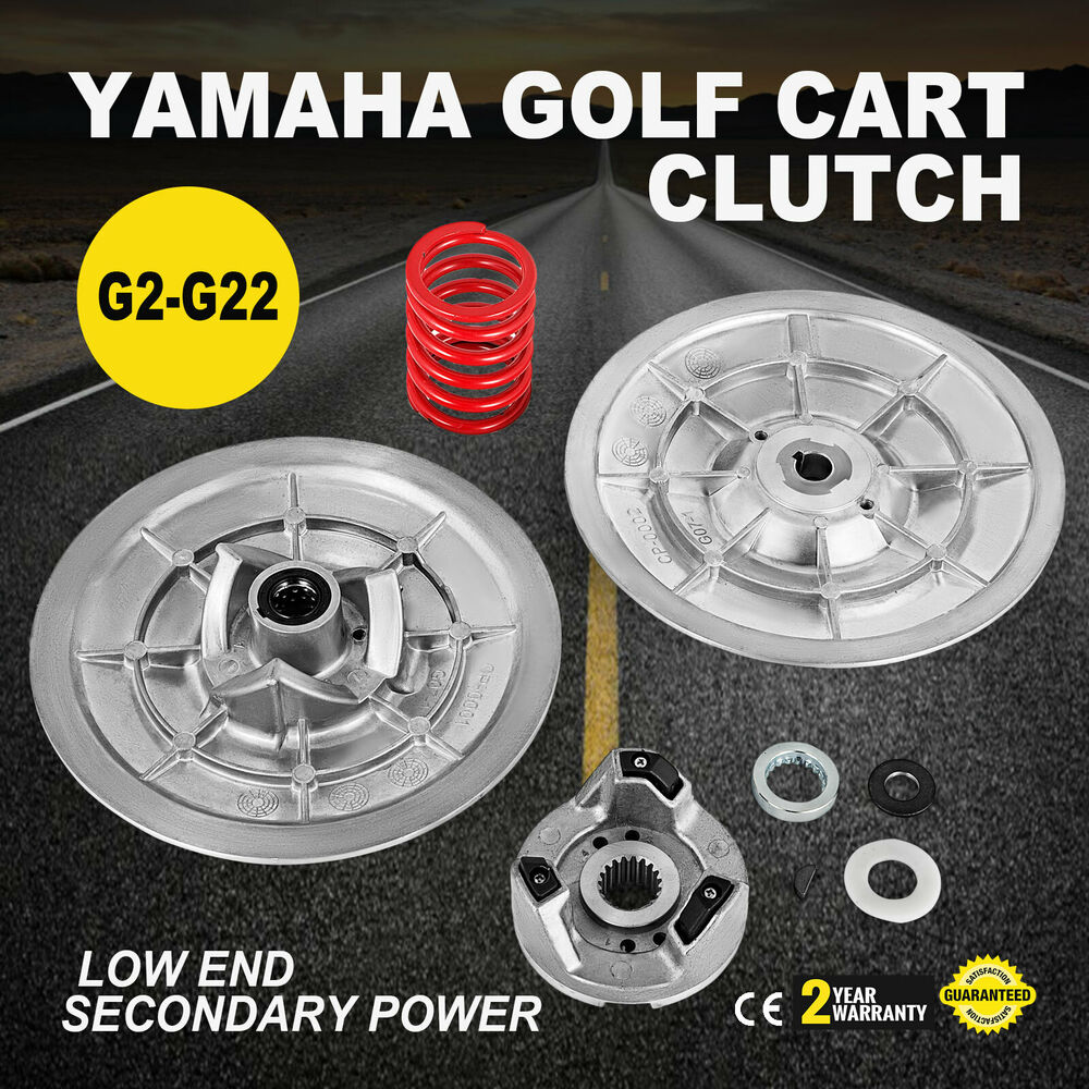 hight resolution of details about yamaha gas golf cart driven clutch kit g2 g22 gas model low end secondary power